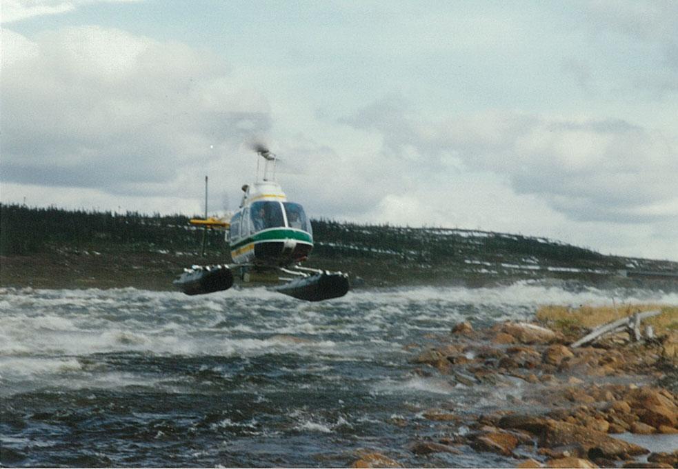 Bathymétrie et géoradar héliportés - Airborne Geophysics